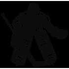 Наклейка «Хоккеист Вратарь»