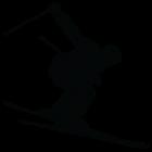Наклейка «Лыжник v4»