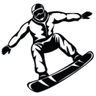Наклейка «Сноубордер»