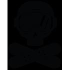 Наклейка «Череп Сноубордер»