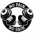 Наклейка «No Pain No Gain»