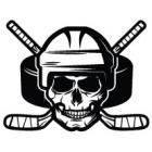 Наклейка «Череп Хокеїст v2»