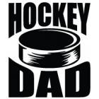 Наклейка «Hockey Dad v13»