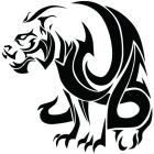 Наклейка «Тигр»