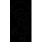 Наклейка «Lisa Simpson»