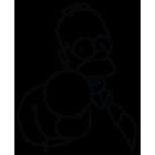 Наклейка «Homer Simpson»